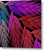 Colorful Feather Fern - Abstract - Fractal Art - Square - 4 Lr Metal Print