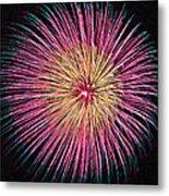 Colorful Fireworks Metal Print