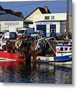 Colorful Fishing Boats Metal Print