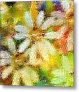 Colorful Floral Abstract II Metal Print