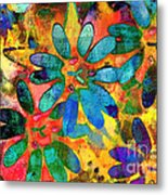 Colorful Floral Abstract IIi Metal Print