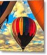 Colorful Framed Hot Air Balloon Metal Print by Robert Bales