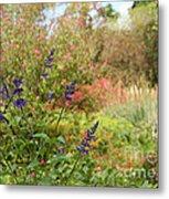 Colorful Garden In Spring Metal Print
