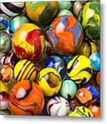 Colorful Glass Marbles Metal Print