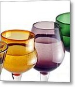 Colorful Glasses In A Row Metal Print