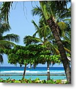 Colorful Greens And Blues Metal Print