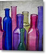 Colorful Group Of Bottles Metal Print