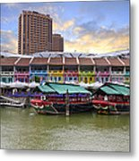 Colorful Historic Houses By River Metal Print