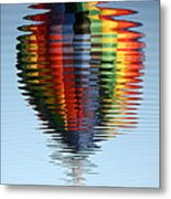 Colorful Hot Air Balloon Ripples Metal Print by Carol Groenen