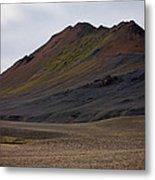 Colorful Icelandic Mountain Metal Print