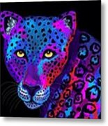 Colorful Jaguar Metal Print