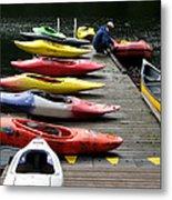 Colorful Kayaks At Whistler Bc Metal Print