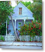 Colorful Key West Cottage Metal Print