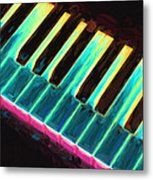 Colorful Keys Metal Print