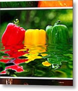 Colorful Kitchen Collage Metal Print