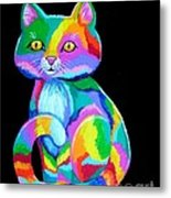 Colorful Kitten Metal Print