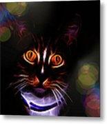 Colorful Kitty Metal Print