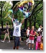 Colorful Large Bubbles Metal Print