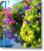 Colorful Large Hanging Flower Plants 1 Metal Print