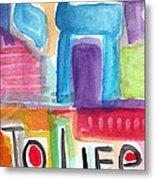 Colorful Life- Abstract Jewish Greeting Card Metal Print
