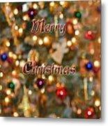 Colorful Lights Christmas Card Metal Print