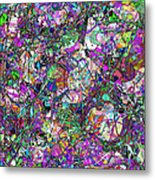 Colorful Lines Abstract Metal Print