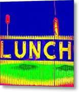 Colorful Lunch Metal Print