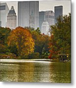 Colorful Magic In Central Park New York City Skyline Metal Print