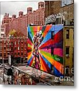 Colorful Mural Chelsea New York City Metal Print