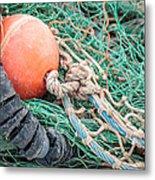 Colorful Nautical Rope Metal Print