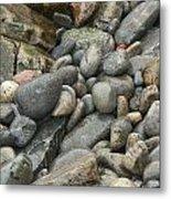 Colorful Ocean Rocks Metal Print