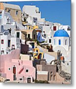 Colorful  Oia Metal Print