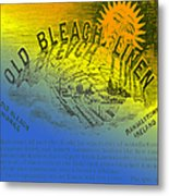 Colorful Old Bleach Linen Ad Metal Print
