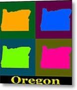 Colorful Oregon Pop Art Map Metal Print