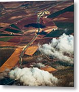 Colorful Patchwork Of Andalusian Fields 1. Spain Metal Print