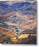 Colorful Patchwork Of Andalusian Fields. Spain Metal Print