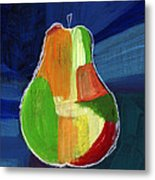Colorful Pear- Abstract Painting Metal Print
