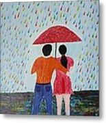 Colorful Rain Metal Print