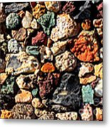 Colorful Rock Wall With Border Metal Print
