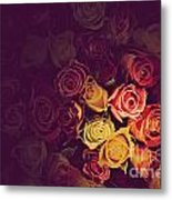 Colorful Roses Background Metal Print