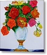 Colorful Roses Metal Print by Zina Stromberg