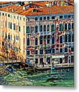 Colorful Rotten Palace In Venice Italy  Metal Print