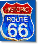 Colorful Route 66 Metal Print
