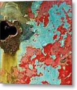 Colorful Rusty Door Metal Print