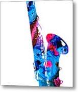 Colorful Saxophone 2 By Sharon Cummings Metal Print