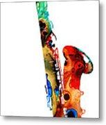 Colorful Saxophone By Sharon Cummings Metal Print