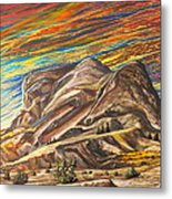 Colorful Scape Metal Print by Dayna Reed