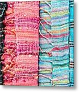 Colorful Scarves Metal Print