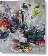 Colorful Seascape Abstract Landscape Metal Print