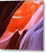 Colorful Slot Canyon Metal Print